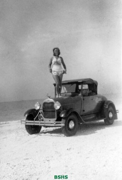 Girl on car at Bonita Beach_WM